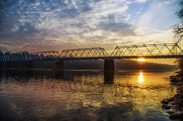 Wall Art - Photograph - Delaware River Sunrise - Washingtons Crossing by Bill Cannon