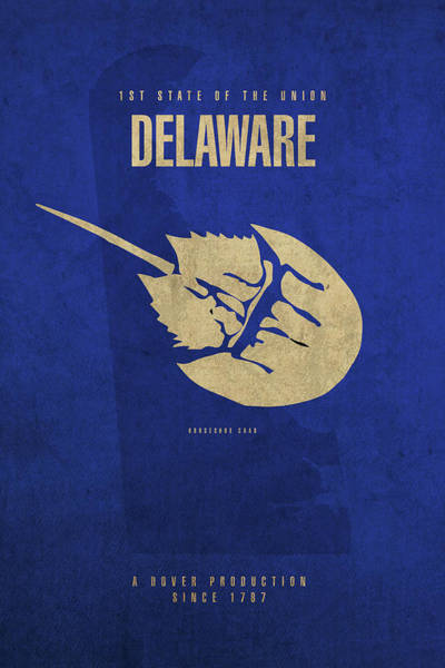 Wall Art - Mixed Media - Delaware State Facts Minimalist Movie Poster Art by Design Turnpike