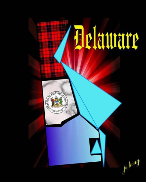 Declaration Of Independence Digital Art - Delaware The First by Jacquie King
