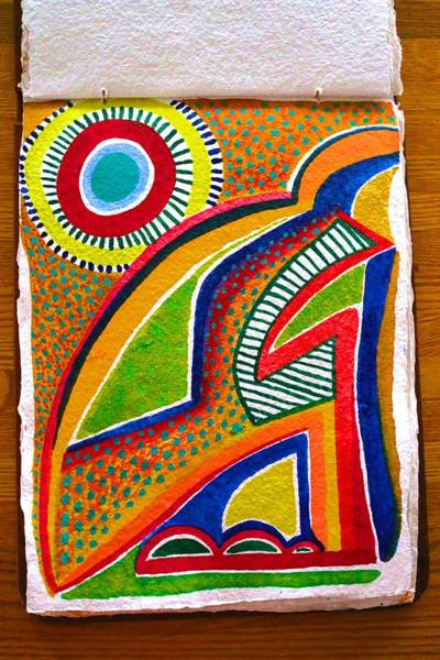 Painting - High Temperatures In My Artist's Journal by Polly Castor