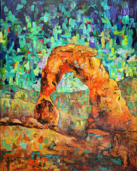 Painting - Delicate Arch As An Impression by Sally Quillin
