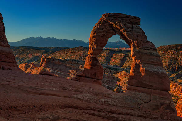 Weathering Photograph - Delicate Arch At Sunrise by Rick Berk