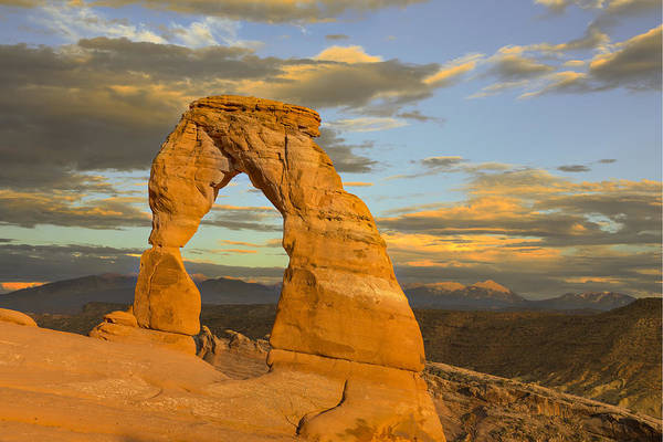 Delicate Arch Wall Art - Photograph - Delicate Arch At Sunset by Adam Romanowicz