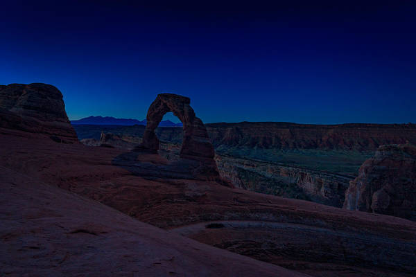 Weathering Photograph - Delicate Arch In The Blue Hour by Rick Berk