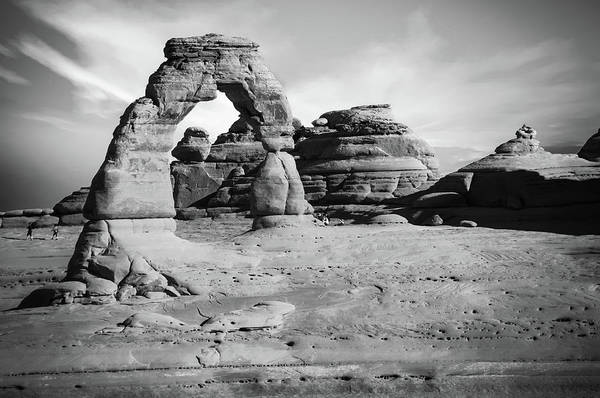 Photograph - Delicate Arch Landscape Black And White by Gregory Ballos