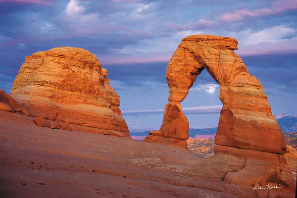 Delicate Arch Wall Art - Photograph - Delicate Arch Moonrise by Dan Norris