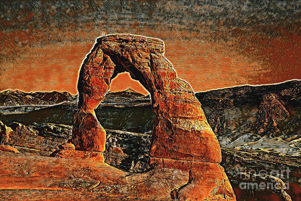 Wall Art - Photograph - Delicate Arch Sunset Poster by John Stephens