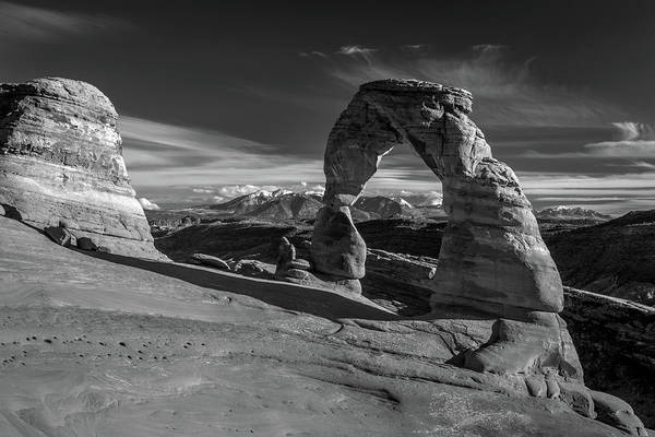 Delicate Arch Wall Art - Photograph - Delicate Arch Utah In Black And White by Pierre Leclerc Photography