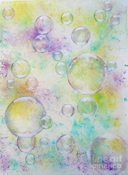 Mixed Media - Delicate Bubbles by Karen Jane Jones