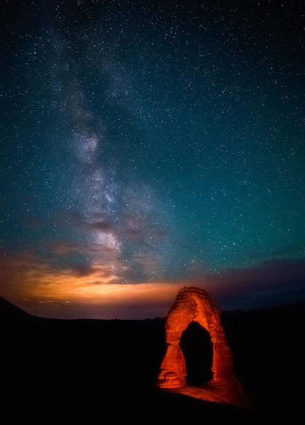 Delicate Arch Photograph - Delicate Galaxies by Darren  White