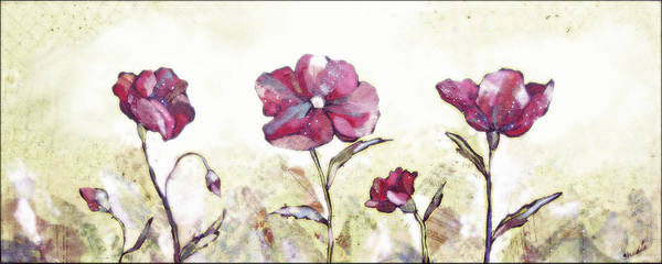 Sage Painting - Delicate Poppy II by Shadia Derbyshire