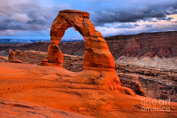 Photograph - Delicate Sunset Arch by Adam Jewell