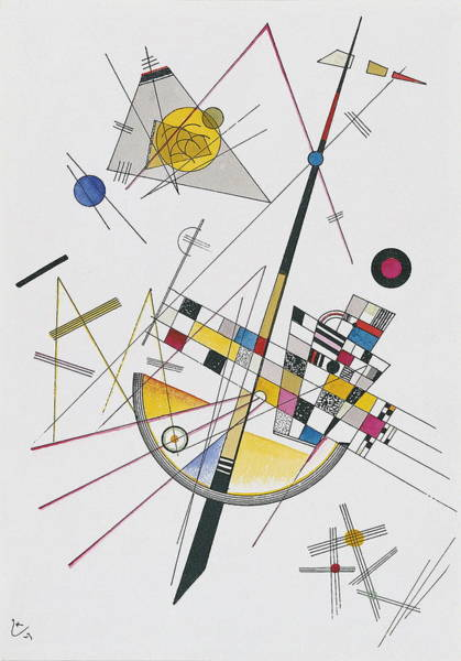 Wall Art - Painting - Delicate Tension by Wassily Kandinsky