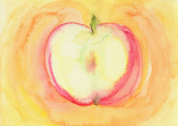 Golden Delicious Wall Art - Painting - Delicious Apple by Kathleen Wong