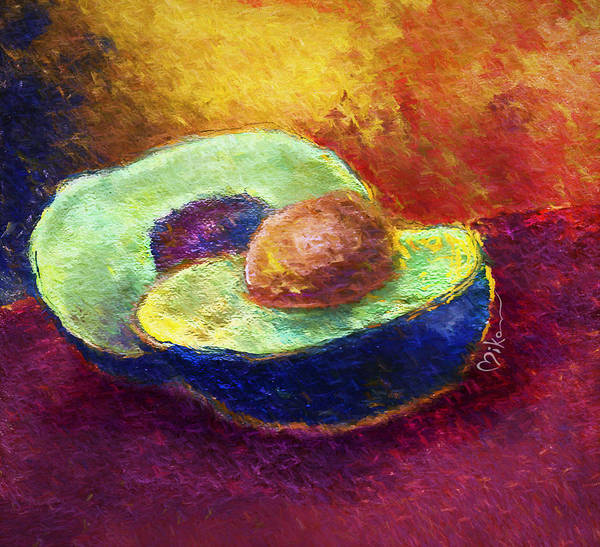Wall Art - Photograph - Delicious, A Buttery Avocado by Miko At The Love Art Shop