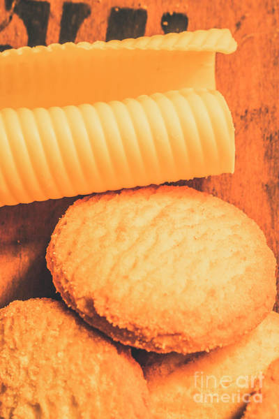Dairy Photograph - Delicious Cookies With Piece Of Butter by Jorgo Photography - Wall Art Gallery
