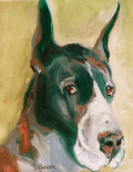 Painting - Delicious Dane by Susan A Becker