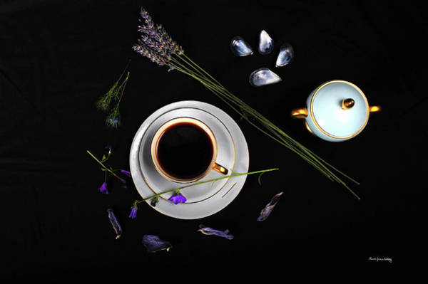 Photograph - Delight In A Blue Cup by Randi Grace Nilsberg