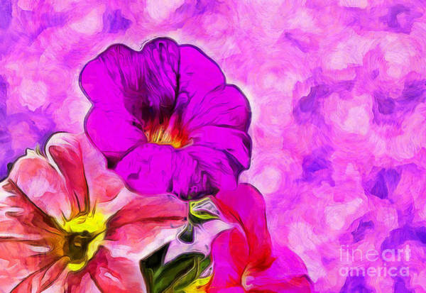 Petunias Photograph - Delighted by Krissy Katsimbras