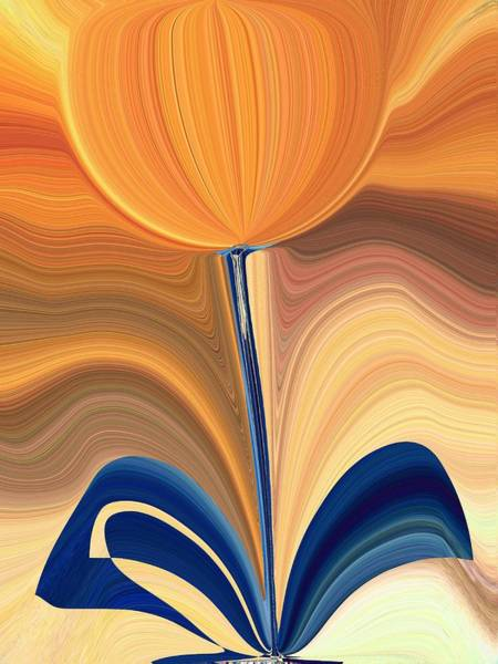 Blooms Digital Art - Delighted by Tim Allen