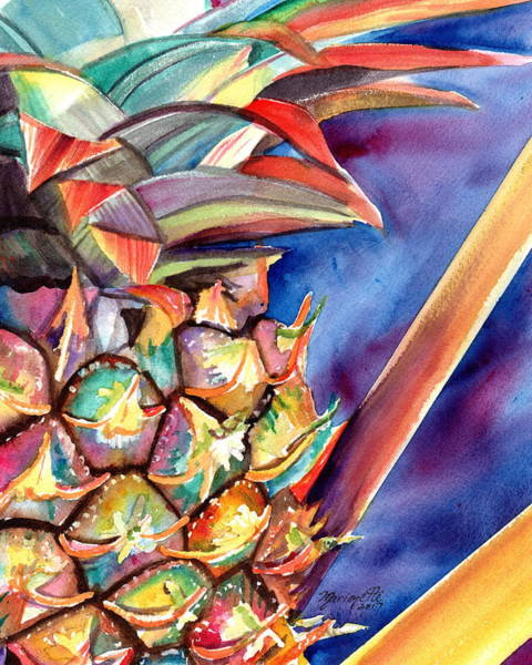Painting - Delightful Pineapple 2 by Marionette Taboniar