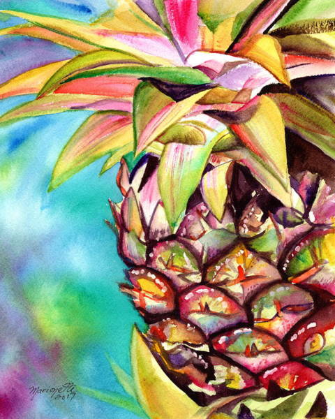 Painting - Delightful Pineapple by Marionette Taboniar