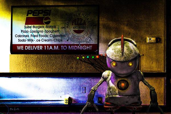 Digital Art - Delivery Bot by Bob Orsillo