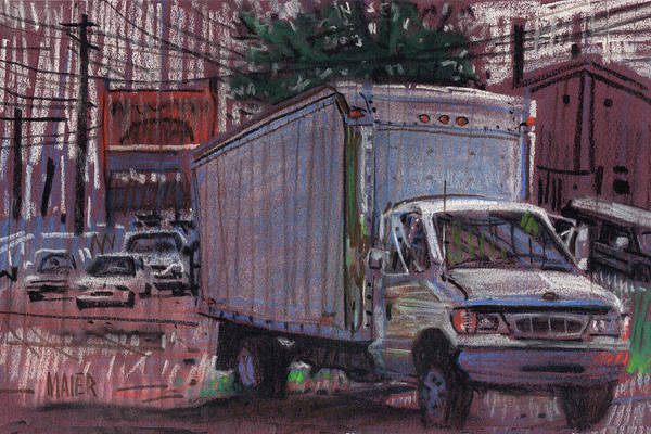 Truck Drawing - Delivery Truck 2 by Donald Maier