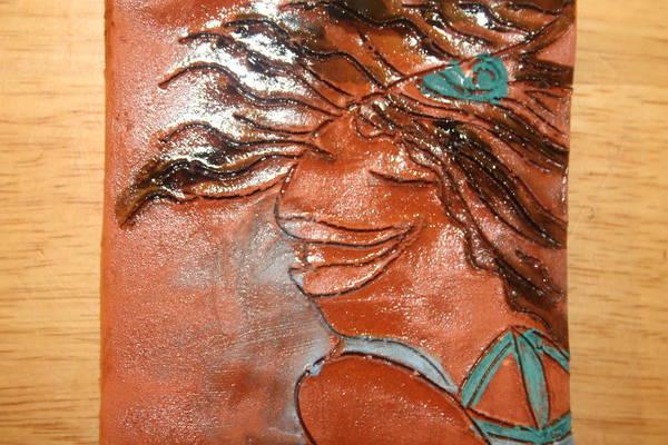 Ceramic Art - Della - Tile by Gloria Ssali