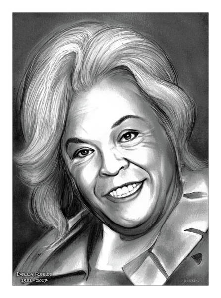 Actress Drawing - Della Reese by Greg Joens