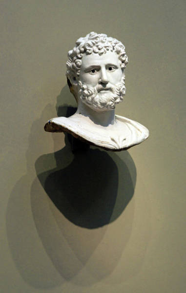 1566 Photograph - Della Robbia's Bust Of A Classical Hero Or Emperor by Cora Wandel