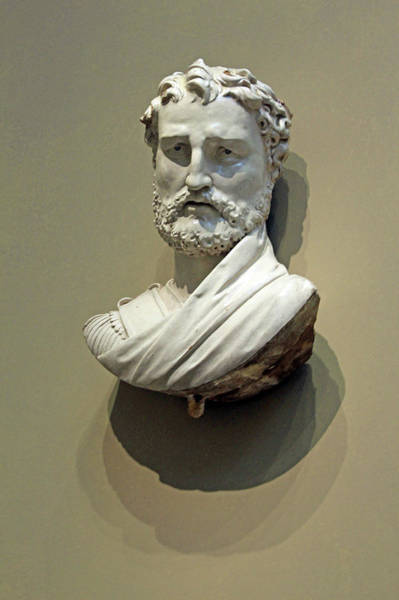 1566 Photograph - Della Robbia's Bust Of A Man by Cora Wandel