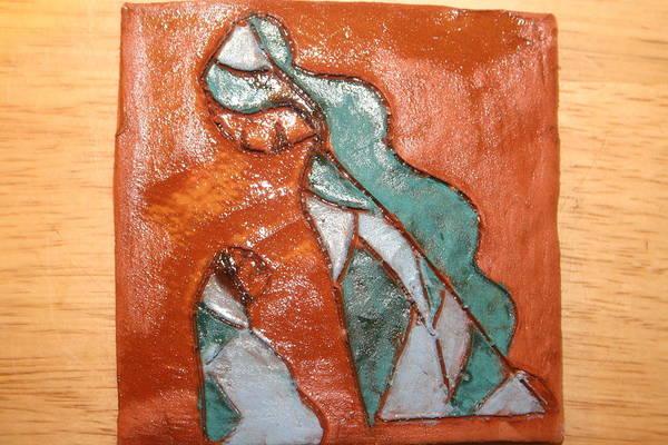 Ceramic Art - Dellas Gal - Tile by Gloria Ssali
