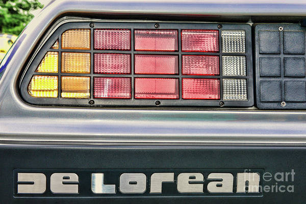 Wing Back Photograph - Delorean A Classic Car by Paul Ward