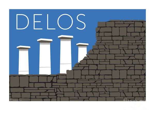 Digital Art - Delos - Blue by Sam Brennan