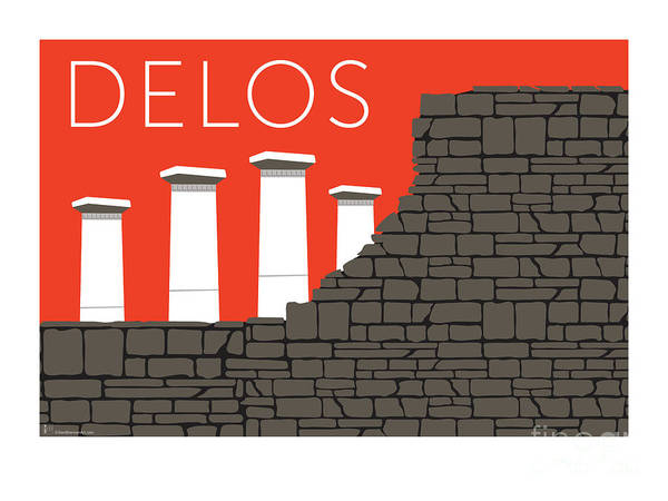 Digital Art - Delos - Orange by Sam Brennan