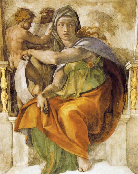 Buonarroti Wall Art - Photograph - Delphic Sibyll by Michelangelo Buonarroti
