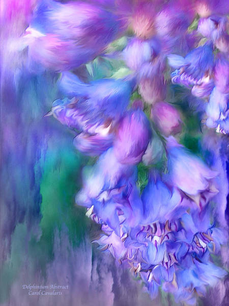 Mixed Media - Delphinium Abstract by Carol Cavalaris