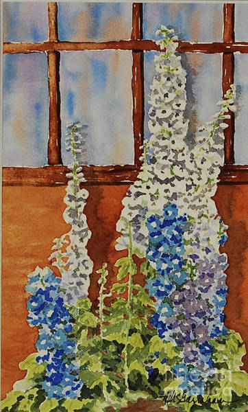 Wall Art - Painting - Delphiniums by Annette McGarrahan