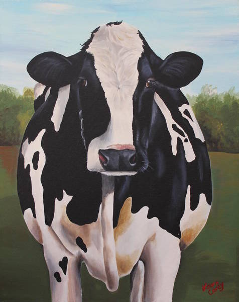 Holstein Wall Art - Painting - Delphinum by Laura Carey