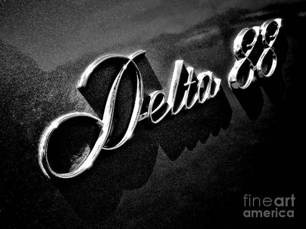 Wall Art - Photograph - Delta 88 Badge by Olivier Le Queinec