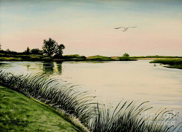 Painting - Delta At Dusk by Elizabeth Robinette Tyndall