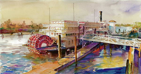 Painting - Delta King On The Sacramento River by David Lobenberg