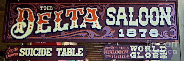 Whiskey Mixed Media - Delta Saloon 1876 by David Millenheft