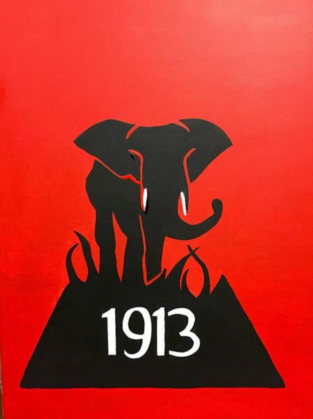 Greek Painting - Delta Sigma Theta Elephant  by Omari Slaughter