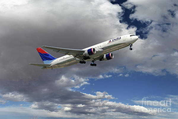 Delta Air Lines Wall Art - Digital Art - Delta_air_lines_b767-332er_n394dl by J Biggadike