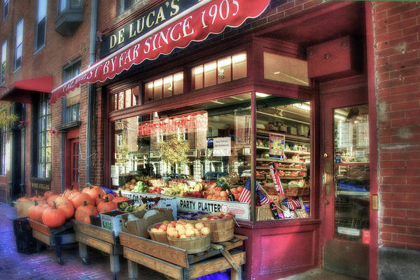 Photograph - Deluca's Market - Boston by Joann Vitali
