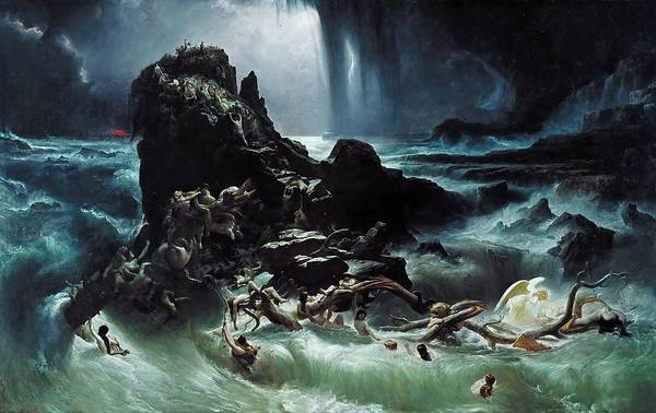 Noahs Ark Wall Art - Painting - Deluge by Francis Danby