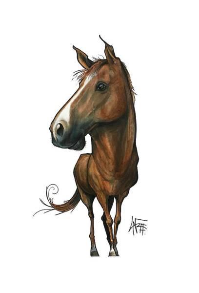Pet Portrait Drawing - Deluna 3182 by John LaFree