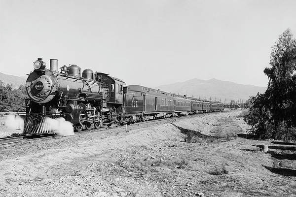 Wall Art - Photograph - Deluxe Overland Limited Passenger Train by War Is Hell Store